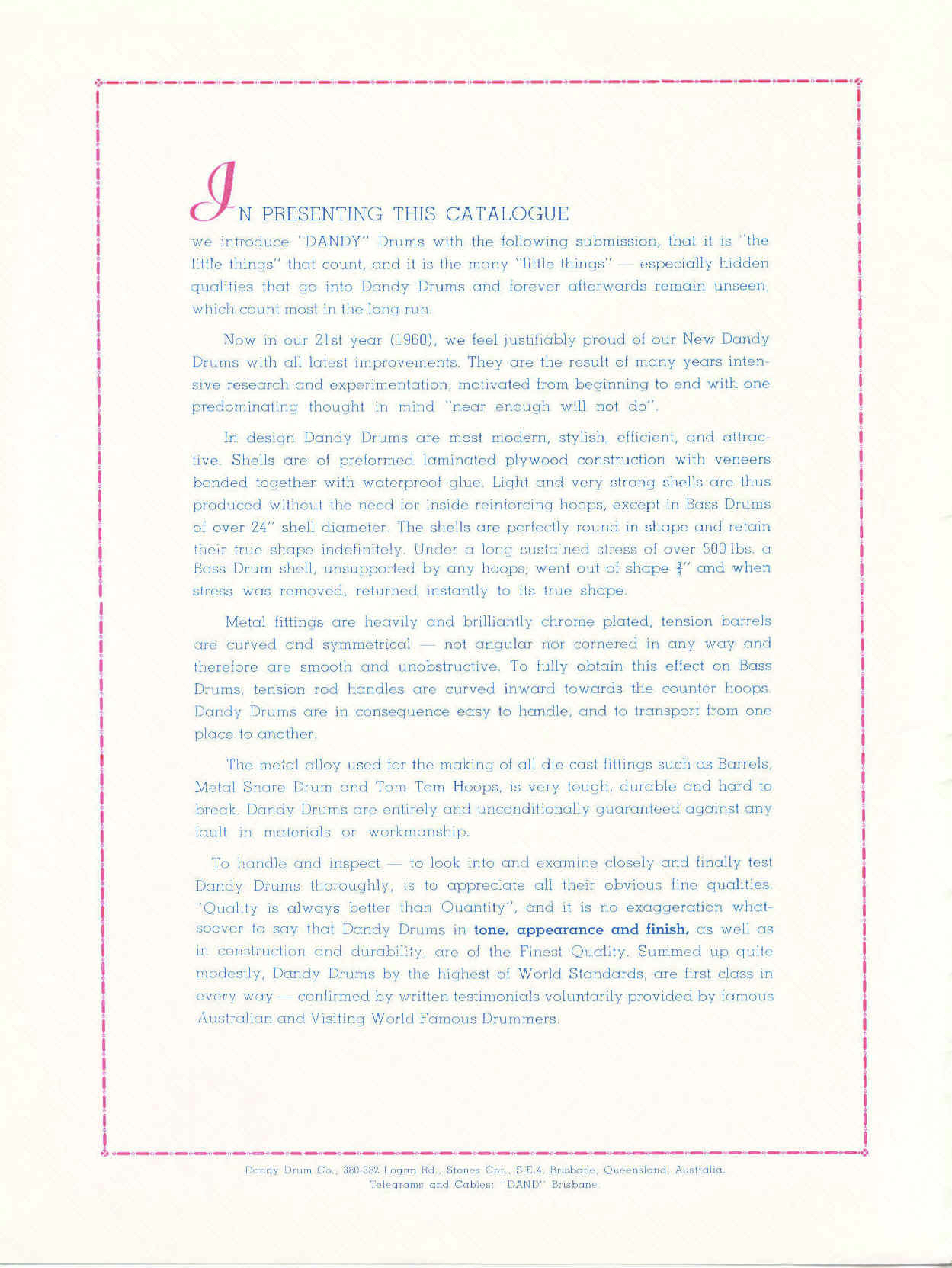Dandy Catalogue - 01