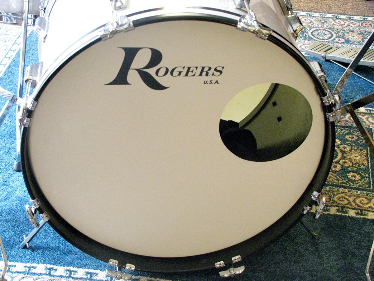 Rogers bass drum logo.