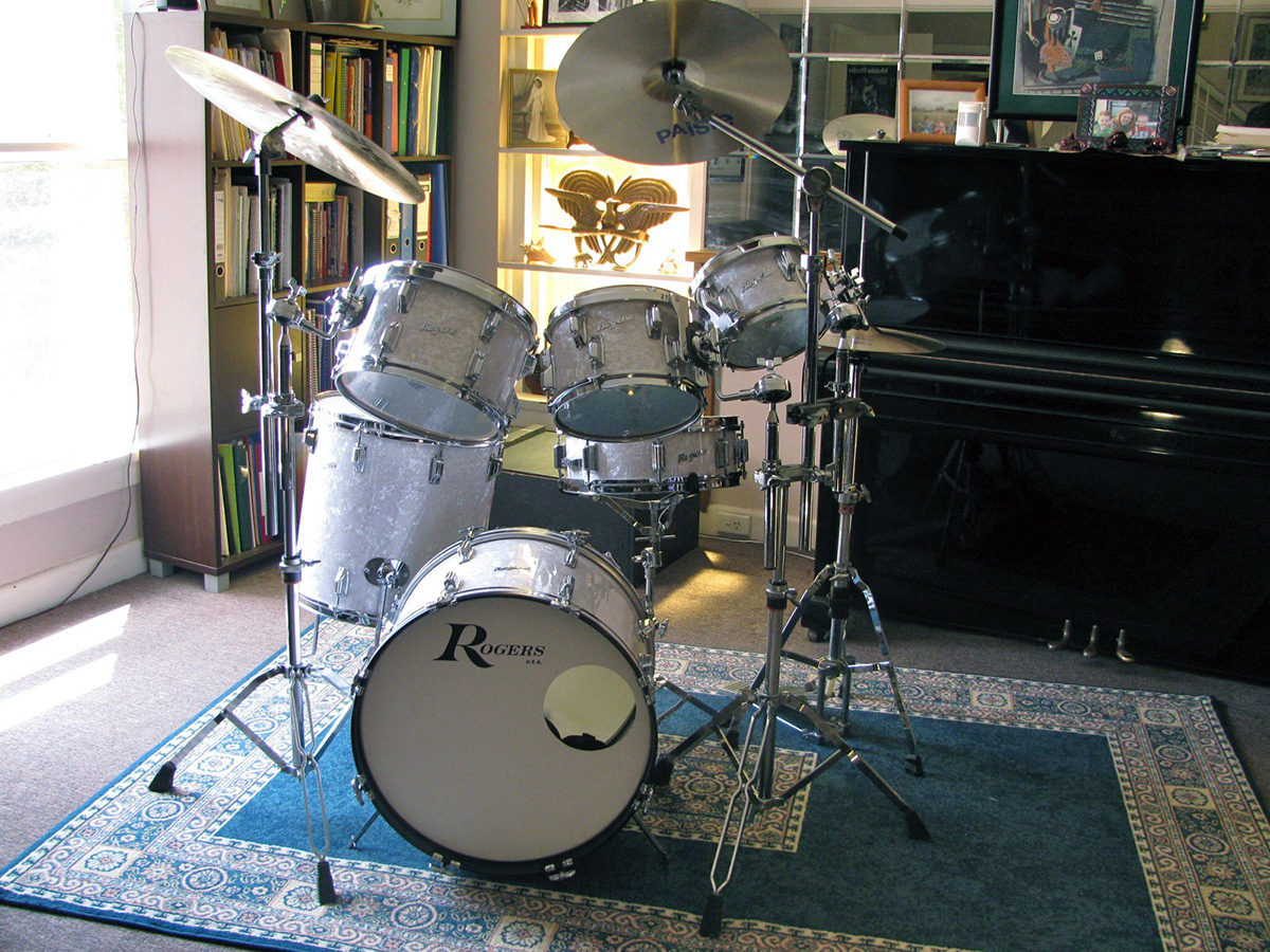 Rogers drums restored.